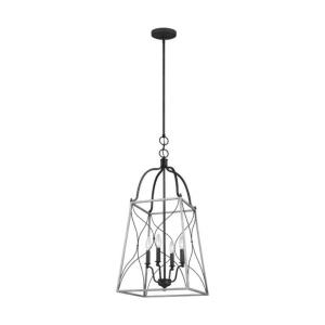 Carra - 4 Light Medium Foyer - 15 inches wide by 34.75 inches high