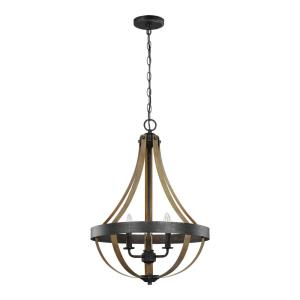 Davlin - 60W Three Light Pendant - 18 inches wide by 25.88 inches high