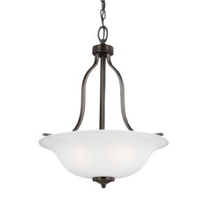 Emmons - 100W Three Light Pendant in Traditional Style - 17.75 inches wide by 22.5 inches high