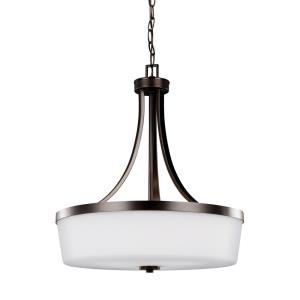 Hettinger - 100W Three Light Pendant in Transitional Style - 19 inches wide by 22.25 inches high
