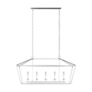 Dianna - 5 Light Medium Linear Chandelier - 16.88 inches wide by 24.38 inches high