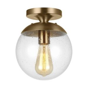 Leo - 1 Light Semi-Flush Mount in Contemporary Style - 8 inches wide by 9.63 inches high