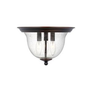 Belton - 40W Three Light Flush Mount
