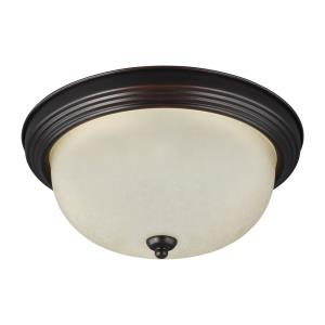 One Light Flush Mount in Transitional Style - 10.5 inches wide by 5.5 inches high