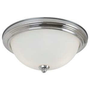 Two Light Flush Mount in Transitional Style - 13.25 inches wide by 6.25 inches high