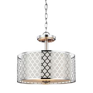 Jourdanton - Two Light Convertible Pendant in Contemporary Style - 15 inches wide by 13.5 inches high