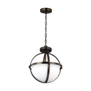 Alturas - Two Light Convertible Pendant in Contemporary Style - 14 inches wide by 16.38 inches high