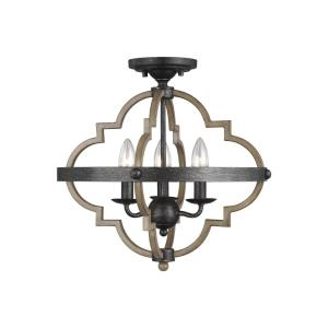 Socorro - 3 Light Semi-Flush Mount