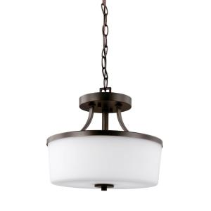 Hettinger - 100W Two Light Convertible Pendant