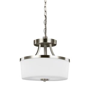 Hettinger - 100W Two Light Convertible Pendant in Transitional Style - 13.25 inches wide by 11.38 inches high