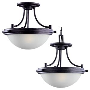 Winnetka  2 Light Ceiling Flush Mount Steel