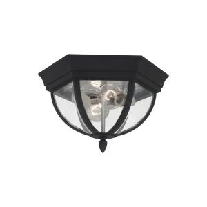 Bakersville - Two Light Outdoor Flush Mount in Traditional Style - 12.59 inches wide by 7.5 inches high