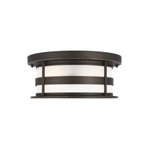Wilburn - 2 Light Outdoor Flush Mount - 13 inches wide by 5.5 inches high