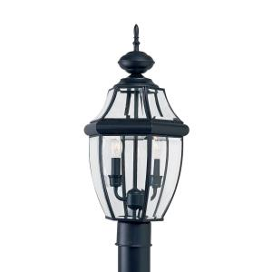 Two Light Outdoor Post Fixture in Traditional Style - 10 inches wide by 21.5 inches high