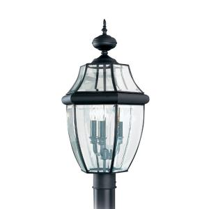 Three Light Outdoor Post Fixture in Traditional Style -  inches wide by 24 inches high