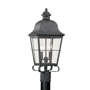 Two-Light Colonial Outdoor Post Lantern
