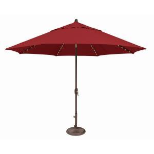 Lanai Pro - 11 Foot Octagon Starlight Umbrella with Auto Tilt