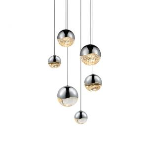 Grapes - 11.75 Inch 25W 6 LED Round Assorted Pendant