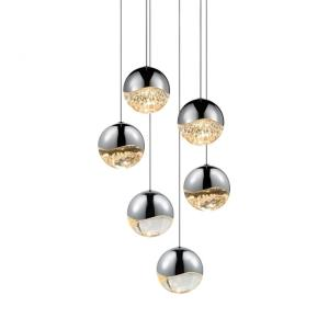 Grapes - 11.75 Inch 198W 6 LED Large Round Pendant