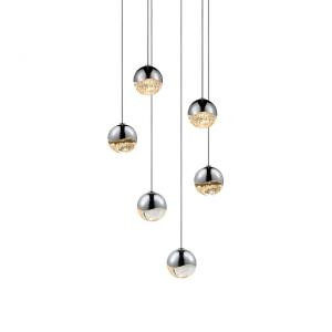 Grapes - 10.5 Inch 18W 6 LED Round Small Pendant