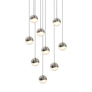 Grapes - 12.5 Inch 27W 9 LED Round Small Pendant