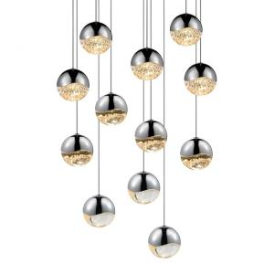 Grapes - 16.25 Inch 48W 12 LED Round Medium Pendant