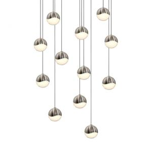 Grapes - 15.5 Inch 36W 12 LED Round Small Pendant