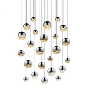 Grapes - 27 Inch 100W 24 LED Round Assorted Pendant