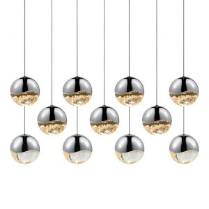 Grapes - 37.5 Inch 665.5W 11 LED Large Rectangular Pendant