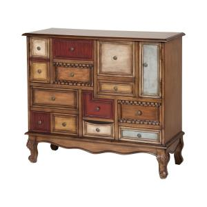 "Shelby - 39.75"" Apothecary-Style Chest with Drawers and Doors"
