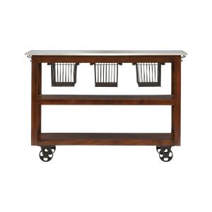 "Kitch - 56.25"" Rolling Kitchen Cart"