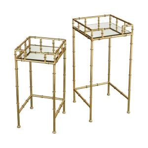 """King Priam - 25.59"""" Square Accent Tables (Set of 2)"""