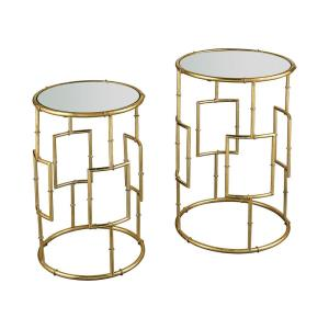 "King Priam - 22.44"" Round Accent Tables (Set of 2)"