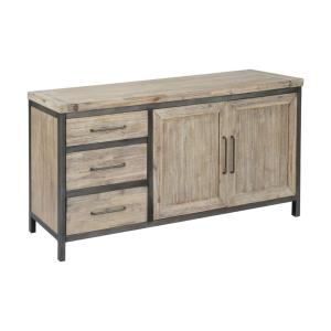 Cork County - 60 Inch 2-Door 3-Drawer Credenza