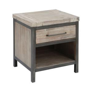Cork County - 22 Inch 1-Drawer Accent Table