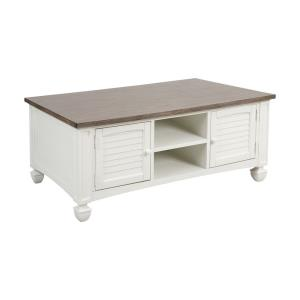 "Nantucket - 50"" 2-Door Coffee Table with Baskets"