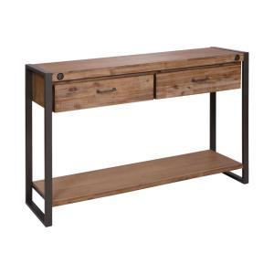 Armour Square - 55.12 Inch 2-Drawer Console Table