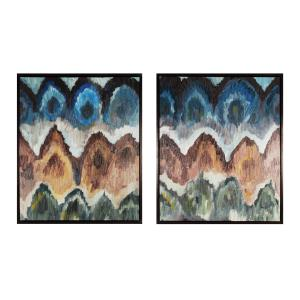 Flamestitch I and II - 25 Inch Decorative Canvas