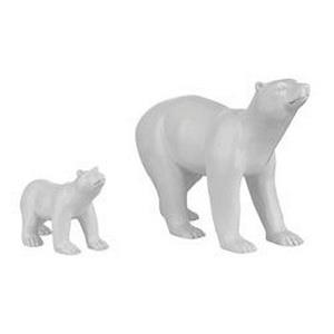 12 Inch Polar Bear (Set of 2)