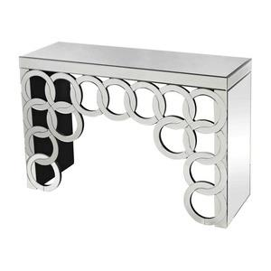 """Silver Rings - 45"""" Console Table"""