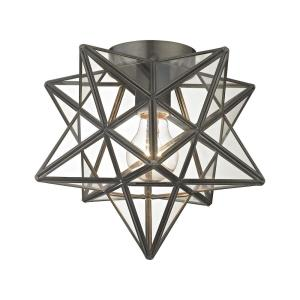 Moravian - One Light Star Flush Mount