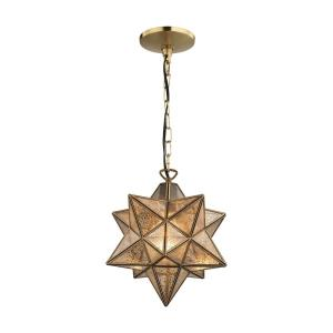 "Moravian - 11"" One Light Star Pendant"