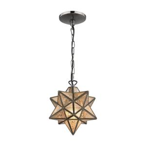 "Moravian - 9"" One Light Star Pendant"