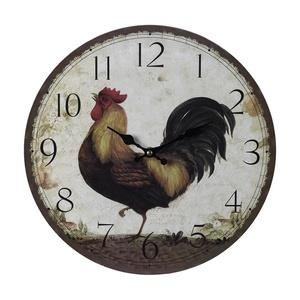 "13"" Large Rooster Wall Clock"