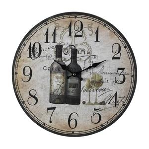 "13"" French Wine Bottle Wall Clock"