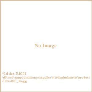 Restoration - Three Light Globe with Crystal Pendant