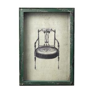 13 Inch Picture Frame with French Antique Chair Print