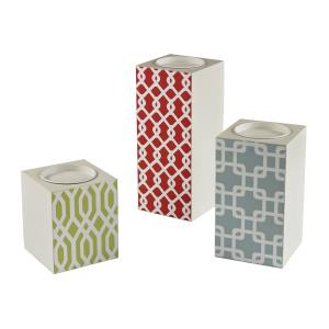 Brooklyn Lodge - 5 Inch Candle Holder Set of 3