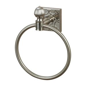 8 Inch Towel Ring with Embossed Back Plate