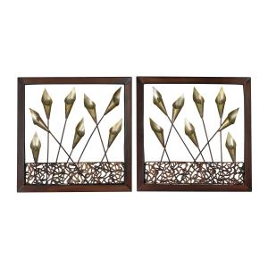 "Delph - 16"" Decorative Wall Art Set of 2"